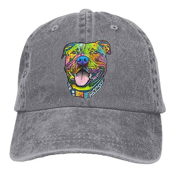 2019 New Wholesale Baseball Caps Print Hat Pit Bull Mens Cotton Adjustable Washed Twill Baseball Cap Hat
