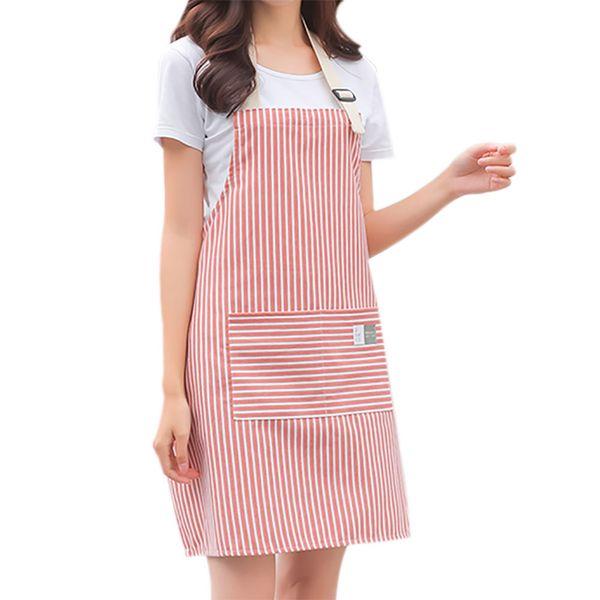 Niedliche Küchenschürzen für Frauen Öl-Proof Schürze Kleid blau grau Pinafore Cafe Restaurant Flower Shop Overalls Kochen Zubehör