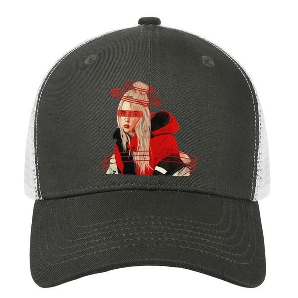 Billie eilish esboçosxdrawings estética mens mens snapback chapéu esporte ajustável basquete feminina cap único snapback cap malha baske