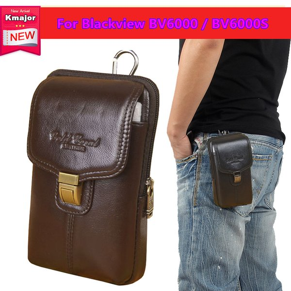 Luxury Genuine Leather Carry Belt Clip Pouch Waist Purse Case Cover for Blackview BV6000 BV6000S Cell Phone Bag Free Shipping