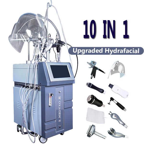 Hydra Skin Care Máquina de Oxigênio Facial Hiperbaric Oxigenoterapia Jet Hydrafacial Microcorrente Ultrassom Facelift Oxygen Anti envelhecimento Máquinas