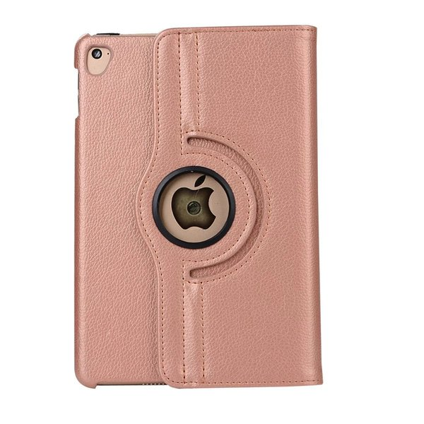 2019 hot sale color for Ipad 2 case Litchi grain PU leather tablet case 360 rotating flip stand for Ipad case
