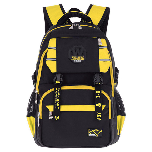 2019 New Children's Orthopedic Schoolbags Of Boys And Lightweight Wearable Nylon School Bags For Teenagers Breathable Backpack