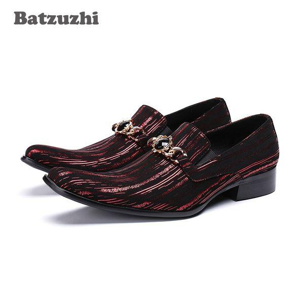 Batzuzhi Italian Fashion Handmade Herren Lederschuhe Business Kleid Anzug Männer Schuhe Zapatos Mujer Beste Geschenke Männer Party, Big 46