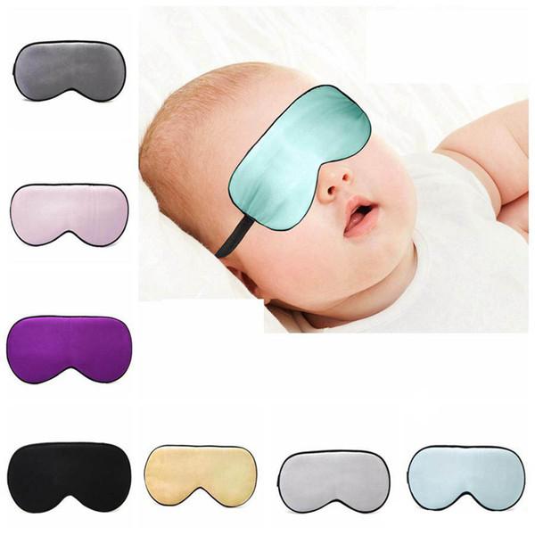 Seta baby Resto sonno Eye Mask imbottito Ombra copertura di viaggio Relax Blindfolds copertura dell'occhio mascherina di sonno strumenti di cura degli occhi di bellezza 10styles