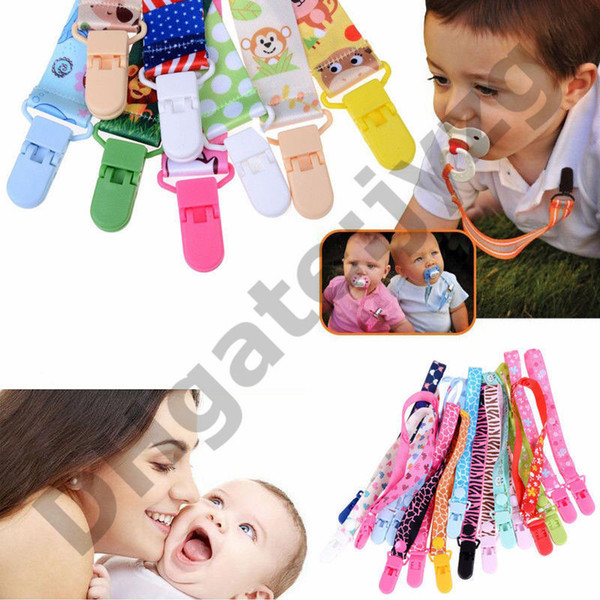 Baby Infant Cute Dummy Pacifier Soother with Nipple Cute Chain Clip Holder