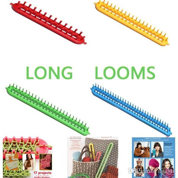 Langer Schal Strickmaschinen DIY Schal Schal Hut Socken Stricker Kunststoff Knifty Langer Strickmaschine Heimtextilien 100Beutel IB178