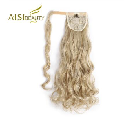 """24"""" Long Wave Clip In Hair Tail False Hair Ponytail Hairpiece Hairpins Synthetic Wrap On Clip Hair Extensions"""