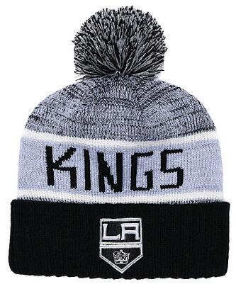 LOS ANGELES KINGS Ice Hockey Knit Beanies Embroidery Adjustable Hat Embroidered Snapback Caps Black Gray White Stitched Hats One Size 01