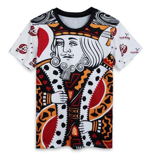 Новые моды смешные игральные карты футболки Мужчины / Женщины 3D печать лето Unisxe Crewneck повседневная коротким рукавом хип - хоп футболки N833