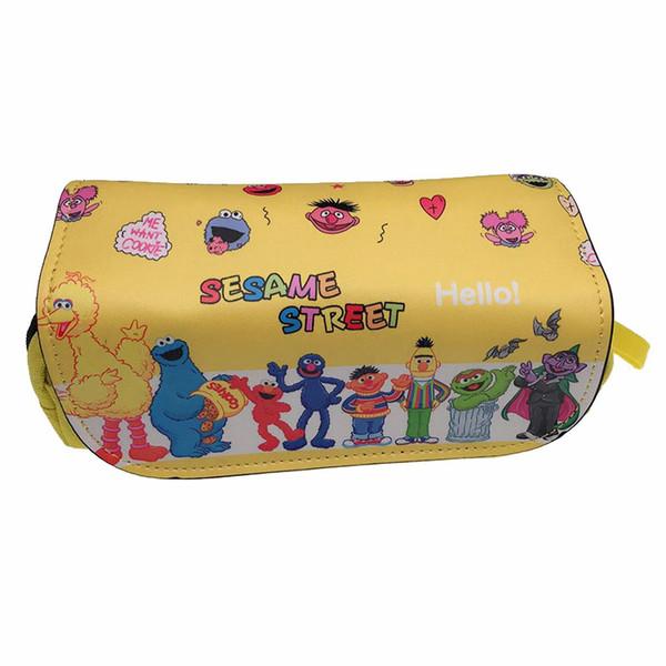 Karikatür Susam Sokak Cüzdan Cosplay Elmo Çerez Kaws Kalem Tutucu Okul Durumda Çocuklar Kalem Çantası Kırtasiye çanta Sikke çanta