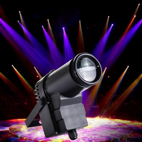 LED etapa luz RGBW haz de luz DMX512 Pinspot Faro de luz de la lente de la etapa de DJ del disco del partido de efecto PINSPOT Luces