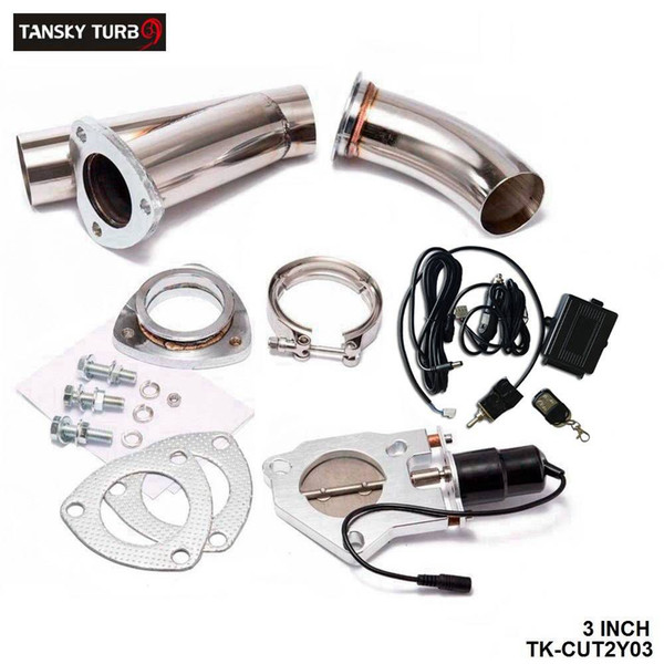 """best selling TANSKY - Electric Exhaust 3.0"""" Cutout E-cutout W Switch  Remote  Switch+Remote Downpipe Cut out Valve System Kit"""