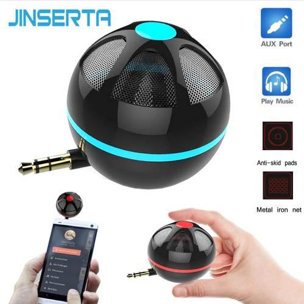 JINSERTA Portable Mini Bass Speaker Straight Plug Type Mobile Phone & Computer Speaker Universal Amplifier Loudspeaker