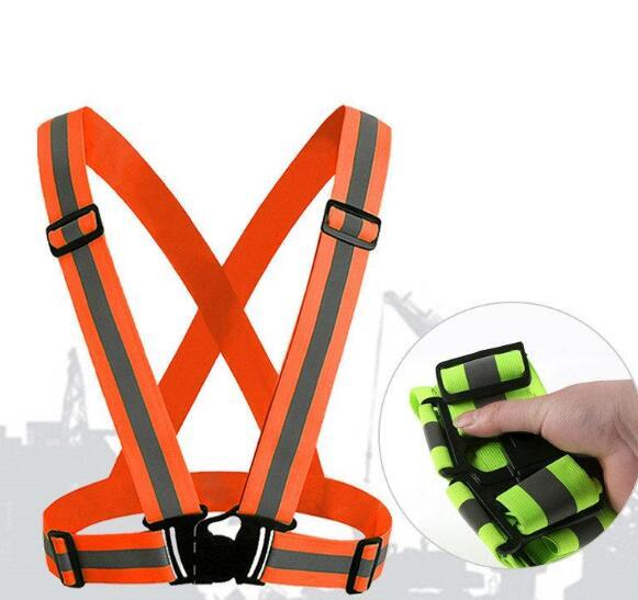 100PCS Safety Clothing Reflective 3M Fabric Material Strip Tap Band Vest Jacket Sports Outdoor Gear Wholesale