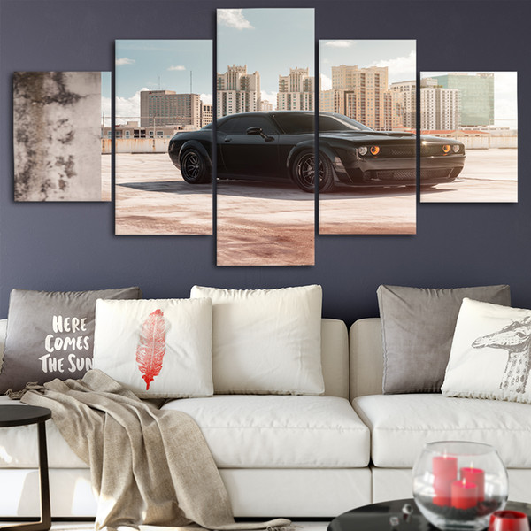 Dodge Canvas Posters Home Decor Wall Art Framework 5 Pieces Paintings For Living Room HD Prints Modern Car Pictures