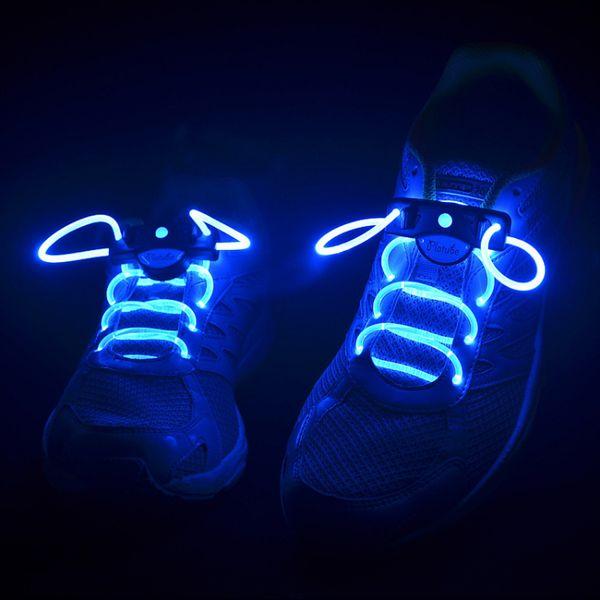 Cadarços brilhantes 2pcs LED cadarços Shoeaces Shoeing Flashing Light Up Brilho vara Strap Neon Shoe Strings Luminous Laces Disco Party