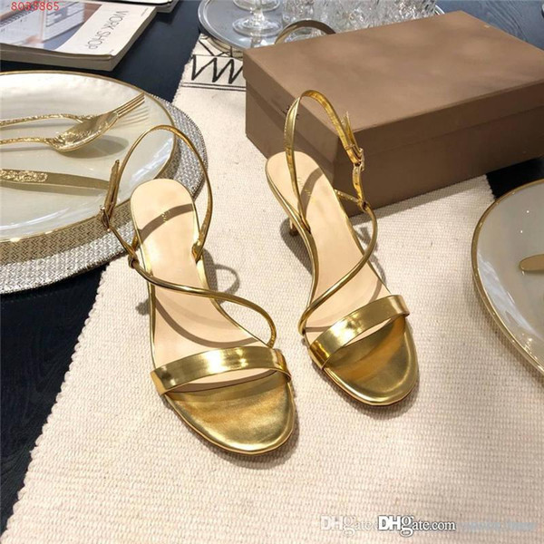 2019 The latest spring/summer Metallic luster sandals,High-heeled sandals,Unique design and style Women shoes