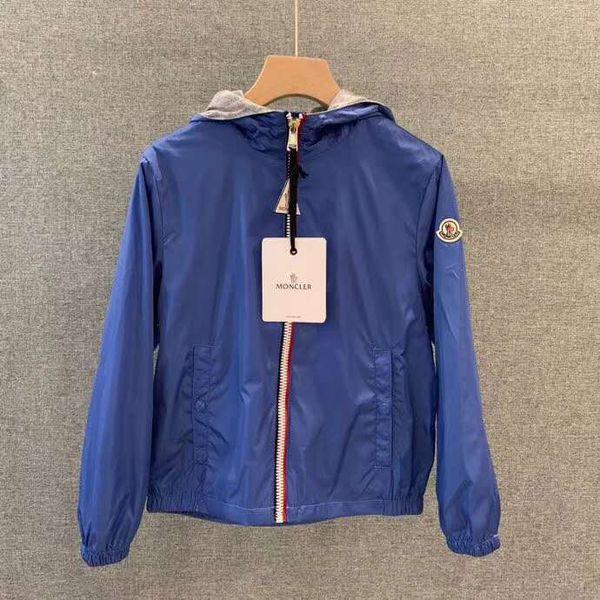 top popular New Pattern Spring Autumn Designer Brand M Popular Clothes Kids Hoodies Jacket Pure Cotton Outdoor Wind Proof Zipper Boys Coat 2019