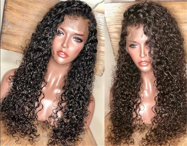Curly 150 density Lace Front Human Hair Wigs Deep Wave Remy Hair Short Bob Wigs For Black Women Long Lace Frontal Wig