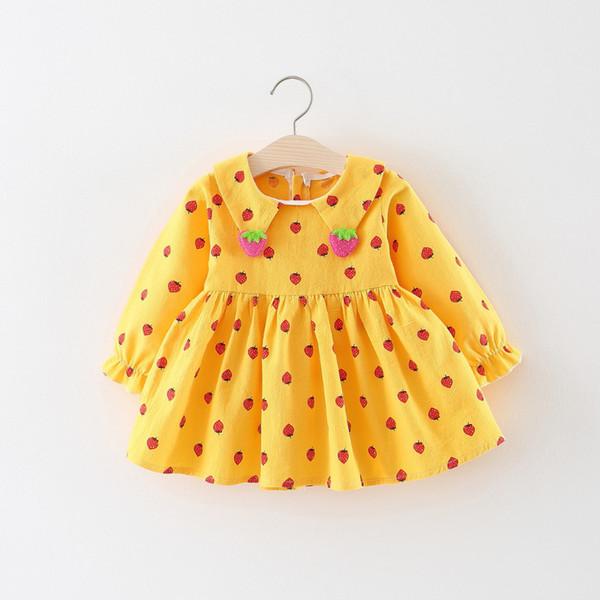 Buena calidad 2019 a estrenar niños niña bebé punto vestido del desfile fiesta de bodas vestido casual de manga larga niños niñas ropa