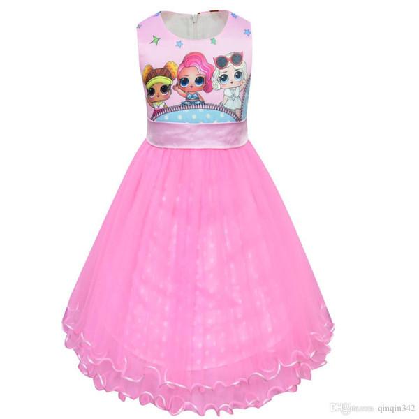 2019 muñecas vestidos de bebé verano lindo vestido elegante fiesta infantil disfraces de navidad niños ropa princesa niñas vestido