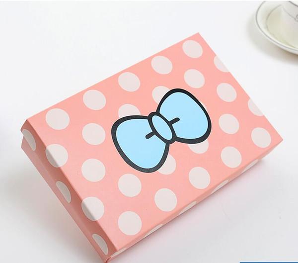 20 unids 18 * 12 * 4 cm Patrón Lindo Caja de Papel Para Presente Bragas de Embalaje Caja de Almacenamiento de Regalo de Los Niños Del Caramelo de Juguete de Embalaje cajas