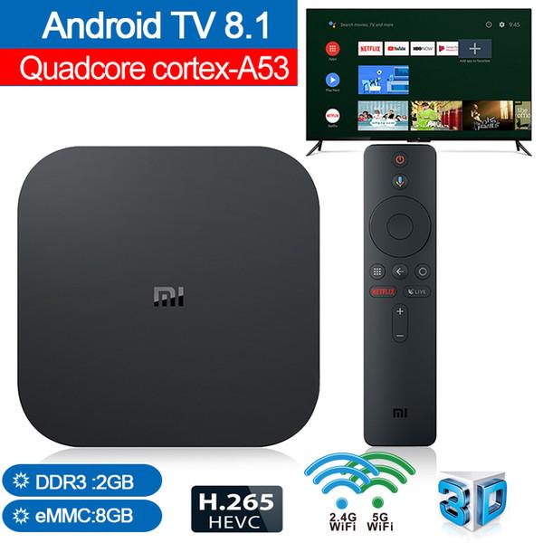 Xiaomi MI Box S Android TV 8.1 TV Box 2GB 8GB Google Player Youtube BT Dual-Band WIFI Media player