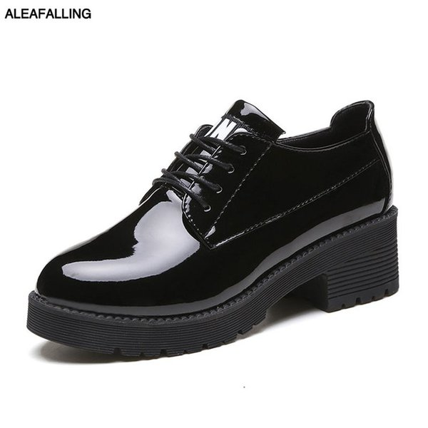 881c863aeb Aleafalling Classcial Outdoor Women's Shoes Lace Up Relax Girl's Shinny  Mature Boots Street Trend Ankle Motorcycle