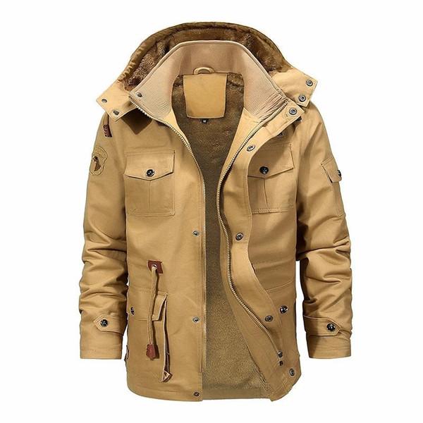 Moda Smart Casual Inverno Casacos homens estão Roupas Roupas Sólidos Zipper Grosso Mens Trench 2019 Windbreaker Parka Homme