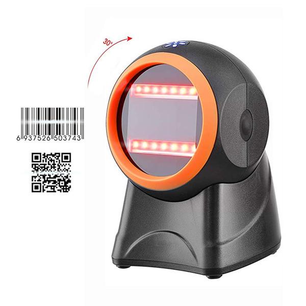 IssyzonePOS 1D 2D QR Barcode Scanner handsfree Laser Scanner Film Screen Barcode Reader Auto Sensor Payment All Language