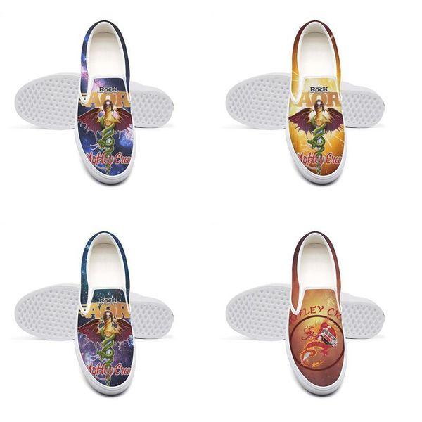 Tela casual unisex, comode scarpe antiscivolo, design pop pop limitato, edizione motley crue nuovo tatuaggio Motley Crue New Tattoo