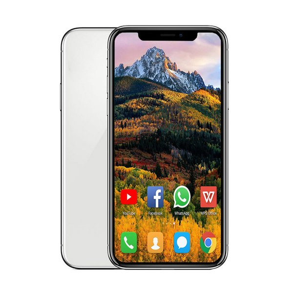 5.8inch Andriod phone X Quad Core 1GB RAM 8GB ROM wireless charging with GPS WIFI WCDMA 3G Cellphone Free post tnt