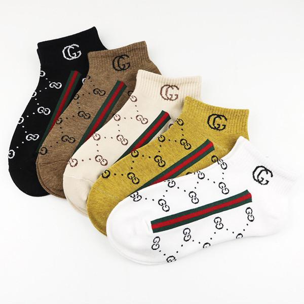2019 novas mulheres estilo europeu e americano barco meias carta de algodão meias curtas maré marca mulheres meias
