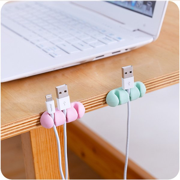2Pcs/Set Wire Wrap Holder Rack Wall Mounted Headphone Charging Cable Storage Racks Silicone Headset Cord Winder Organizer