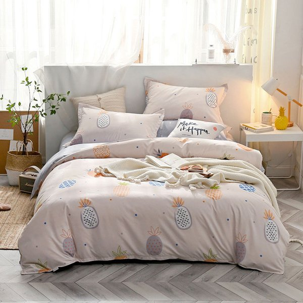Star Owl Plaids 4pcs Bed Cover Set Cartoon Duvet Cover Adult Kids Boys Bed Sheets And Pillowcases Comforter Bedding Set