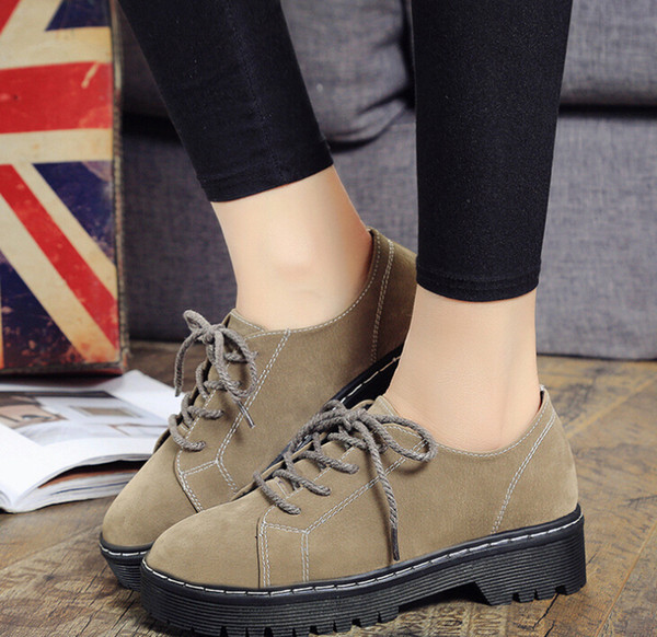 autumn and winter new solid color women's leather boots with casual shoes waterproof platform short boots women's shoes wholesale