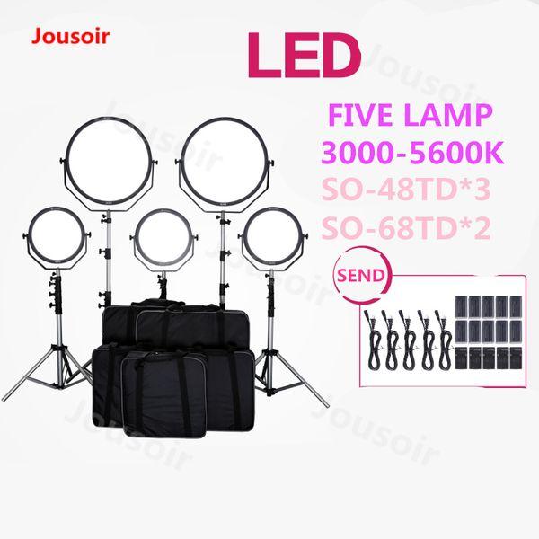 2019 Falconeyes SO 48TD SO 68TD LED Video Light Live Photography Camera  Lamp Flexible Soft Light 3000 5600k Five Lamp Set CD50 T06 From  Springshowers,