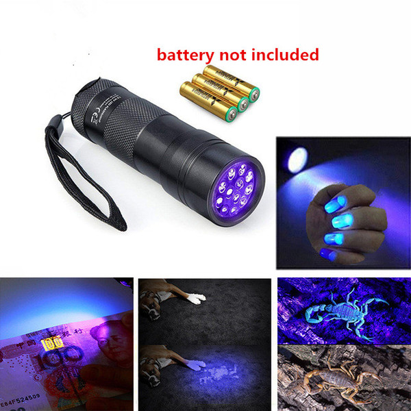 uv light for sale uv black light loca glue cure uv light flash lead small protable treatment 12 LED flashlight Torch Sterilization outdoor
