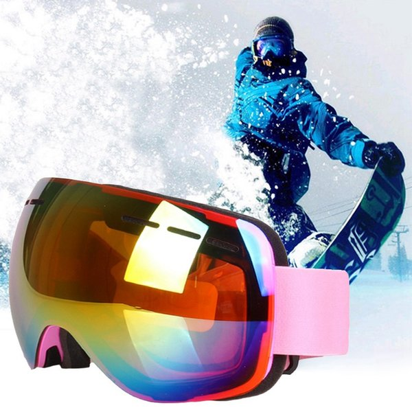 eafc12368a Winter Skiing Goggles Ant-fog Ski Snowboarding Mask UV400 Ski Sunglasses  Eyewear Double-Layer Skiing Glasses with Glasses Case