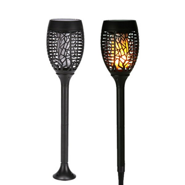 Outdoor Solar Garden Lawn Light Waterproof Rechargeable lamp Flame LED Garden Landscape Round Induction Light LJJZ152