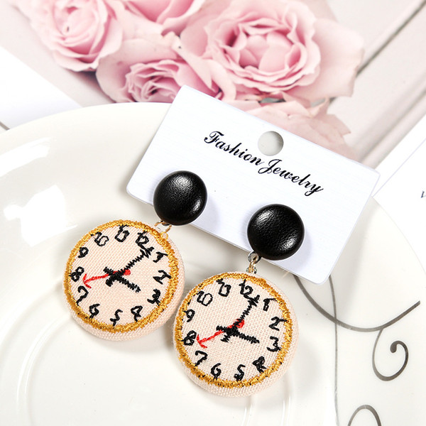 Cartoon Cute Panda Earrings Korea's Ear Personality Nail Lovely Ear Clip Girls Simple Student Partysu Earrings