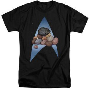 Star Trek Tall T-Shirt Logo Cat Nap Pile Up Bla2019 Tee