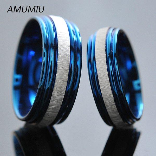 Cor Azul para homens 6 milímetros Largura