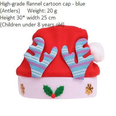 Child Flannel Antlers Blue