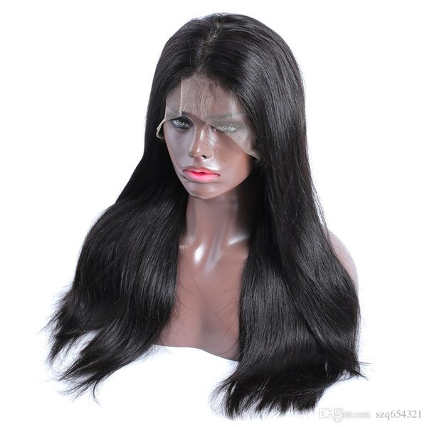 Silky Straight Wig 13x6 Lace Front Human Hair Wigs Full Straight Wigs Natural Color Wig For Black Women In Stock
