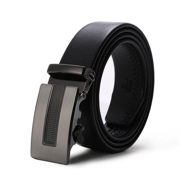 Hot luxe loisirs ceintures designer de mode ceinture messieurs taille ceinture boucle automatique affaires ceintures en cuir mens taille sangle 110-130 cm