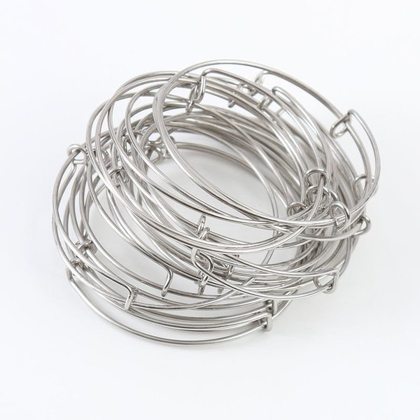 8d6bdf1d83ca5 Rainxtar Hot Sale Stainless Steel Expandable Wire Kid Adult Size Bangles  6.5cm,6.0cm,5.5cm,5.0cm,Aab088 Y19051002 Fashion Bangles Mens Bangles From  ...