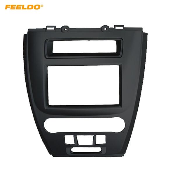 FEELDO 2DIN Car Radio Panel Fascia Frame For FORD Fusion 2009-2012 Stereo Refitting Dash Mount DVD Player Fitting Frame Trim Kit #5047