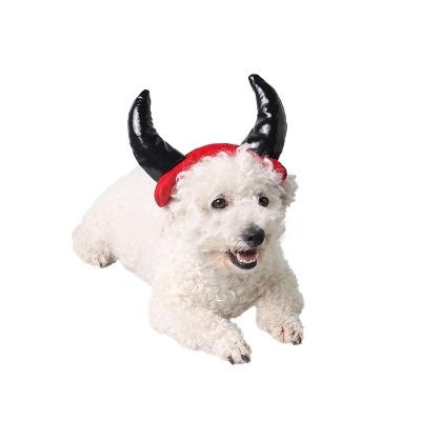 Dog demon headdress Christmas Halloween Pet Cat Dog Caps Horns Cap For Dog Cat Pet Hat Accessories Decoration Cosplay Costume Hats